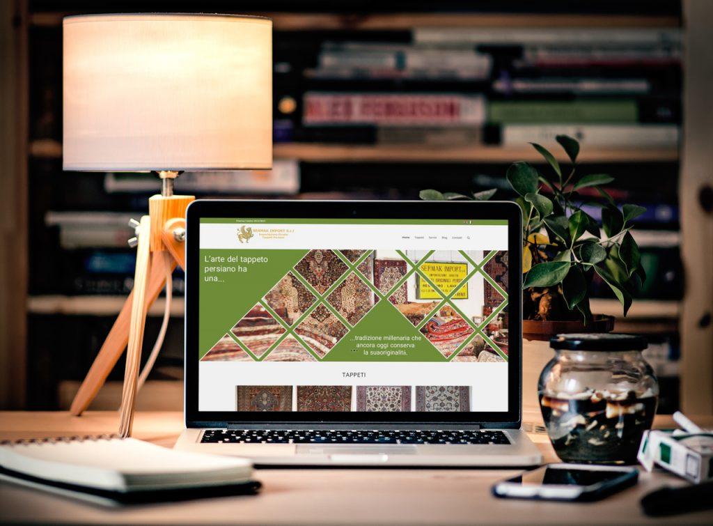 طراحی سایت شرکتی گالری فرش Sermak