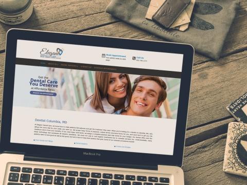 طراحی سایت پزشکی الگانت دنتال Elegant Dental Care