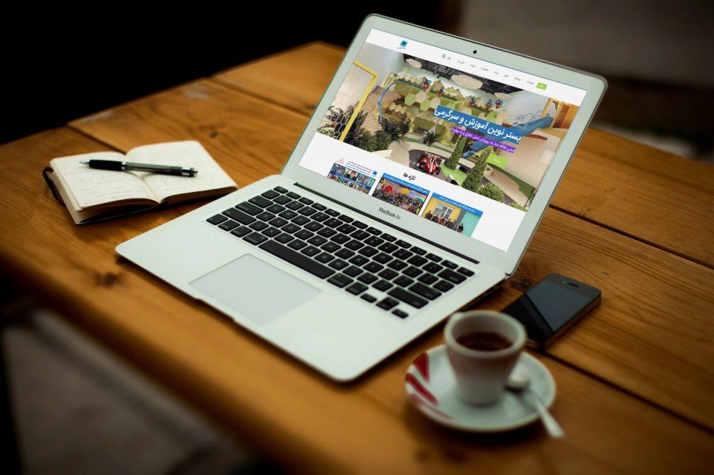 طراحی سایت شرکتی مکتب آبی Maktababi   طراحی سایت شرکتی
