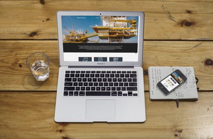 طراحی سایت شرکتی dibajpetroleum