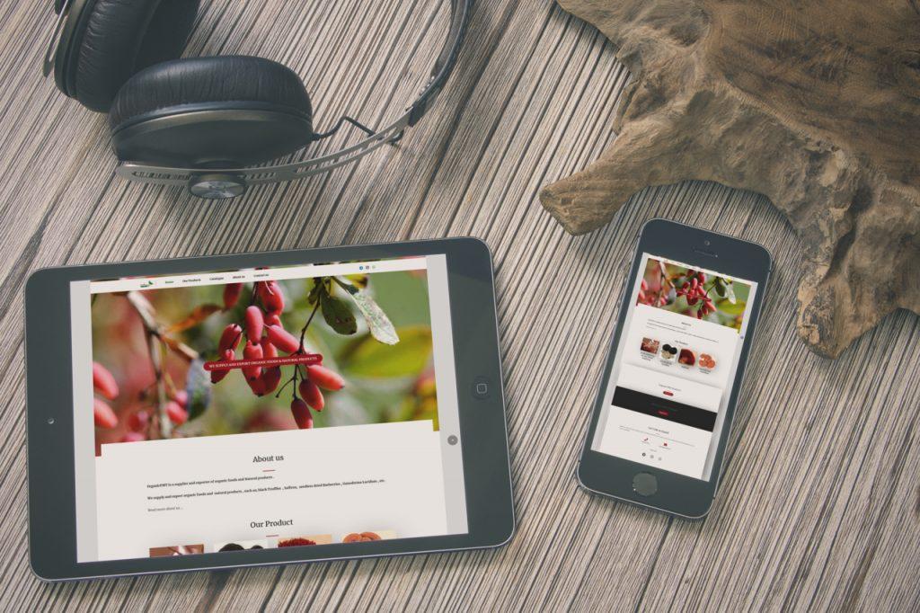 طراحی سایت بازرگانی organicfmt