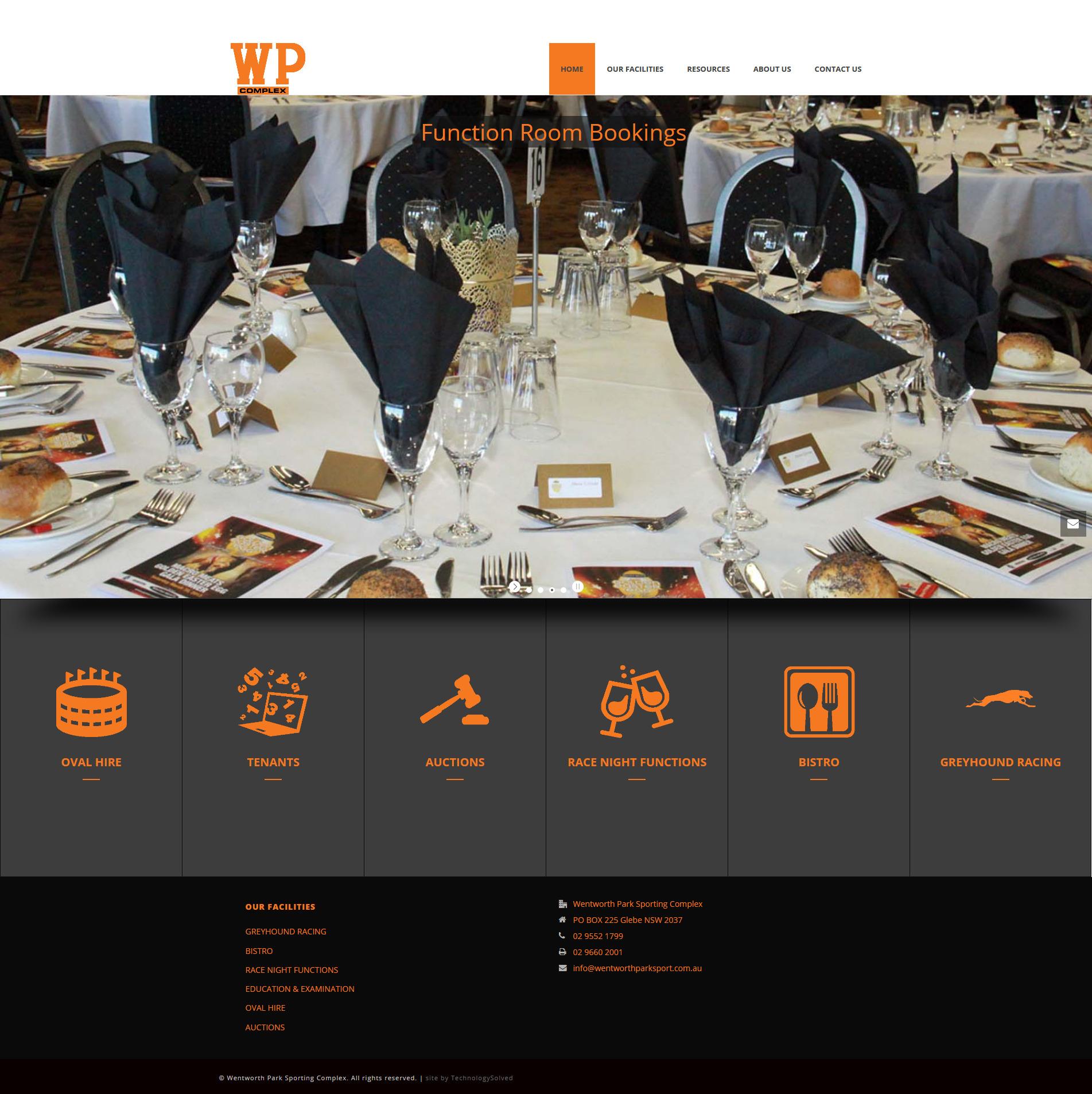 طراحی سایت شرکتی wentworthparksport