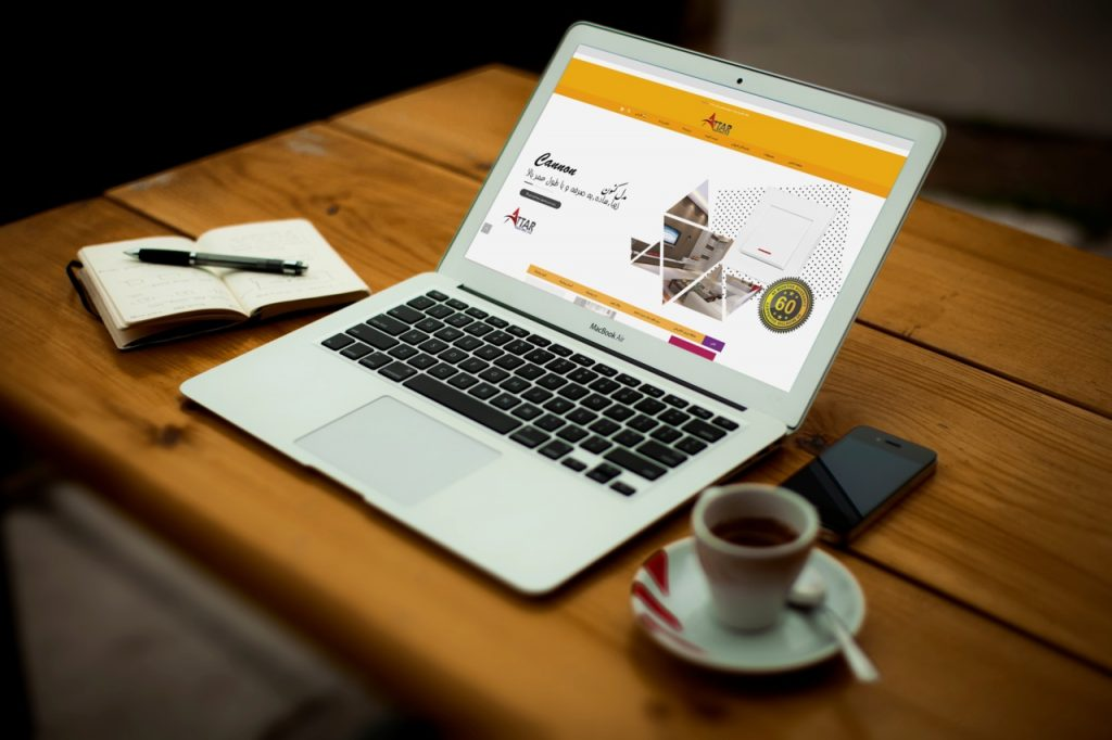 طراحی سایت شرکتی عطار الکتریک attar