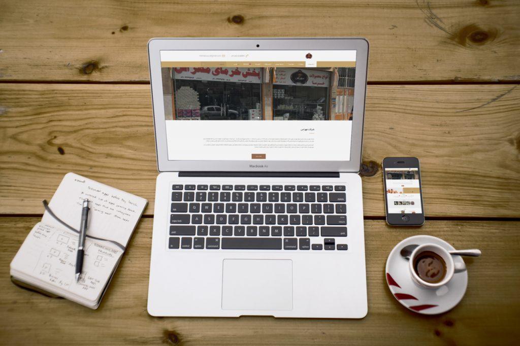 طراحی سایت شرکتی مهراس mehrass
