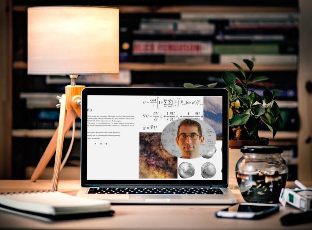 طراحی وبسایت شخصی علیرضا وفا alirezavafa